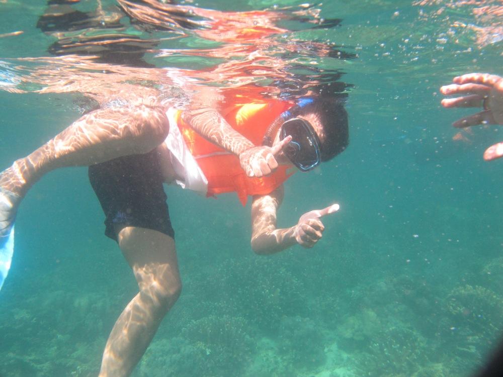 Snorkeling is fun!